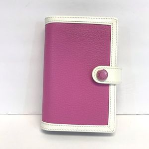 Coach | Vintage Pink and White planner/wallet